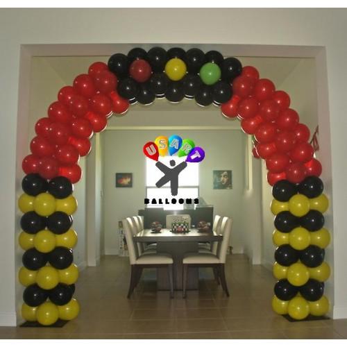 Balloon arch ideas for Balloon decoration cars theme
