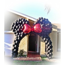 Minnie Mouse Balloon Arch Project