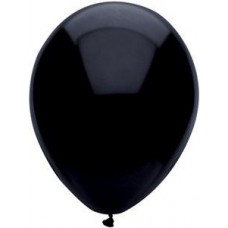 Black Pitch Latex Balloon 17""