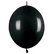 Black Link-O-Loon Onyx Latex Balloon 12""