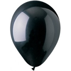 Black Latex Balloon 12""