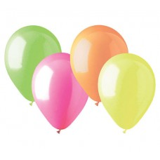 Neon Assortment Latex Balloon 12""