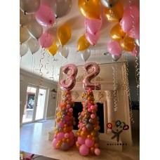 Organic Balloon Columns with Numbers