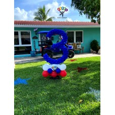 Number Shape balloon Sculpture Outdoor