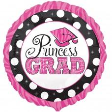 "Princess Grad Dots PK 18"" Round foil Balloons"
