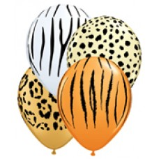 Safari Assortment latex balloon Qualatex 5 inches