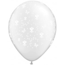 Clear Flowers-A-Round Latex Balloon 16""