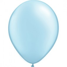 Blue Light Pearl Latex Balloon 5 inches