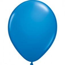 Blue Dark Latex  Balloon 5""