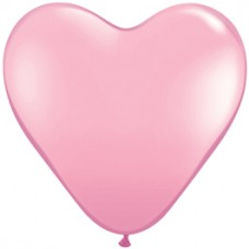 Pink Heart Latex Balloon 11""
