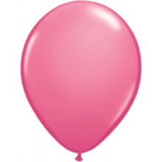 Pink Rose Latex Balloon 9""