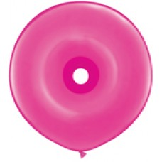 Pink Wild berry Geo Donut Latex Balloon 16 inches