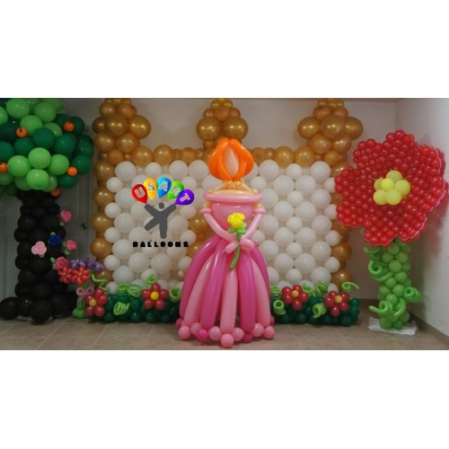 Princess decor for Balloon decoration classes