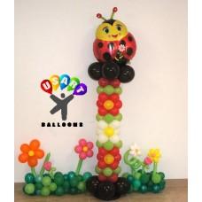 Ladybug Balloon Flower Column