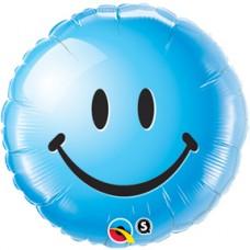 "Smiley Face Blue 18"""