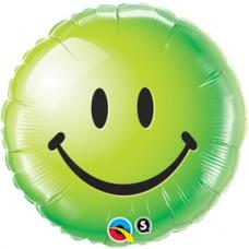 """Smiley Face Green 18"""""""