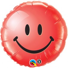 """Smiley Face Red 18"""""""