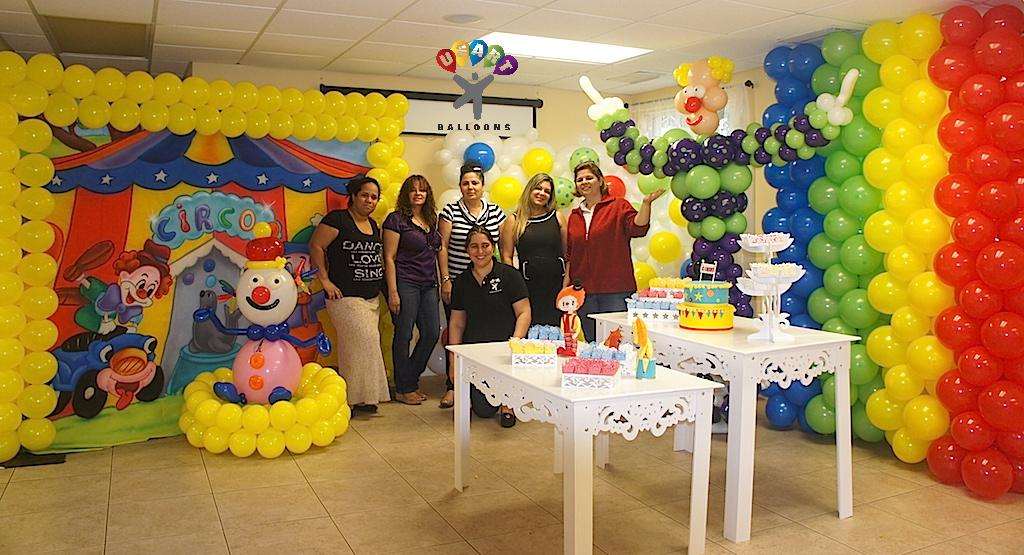 Balloon training january 2016 for Balloon decoration course
