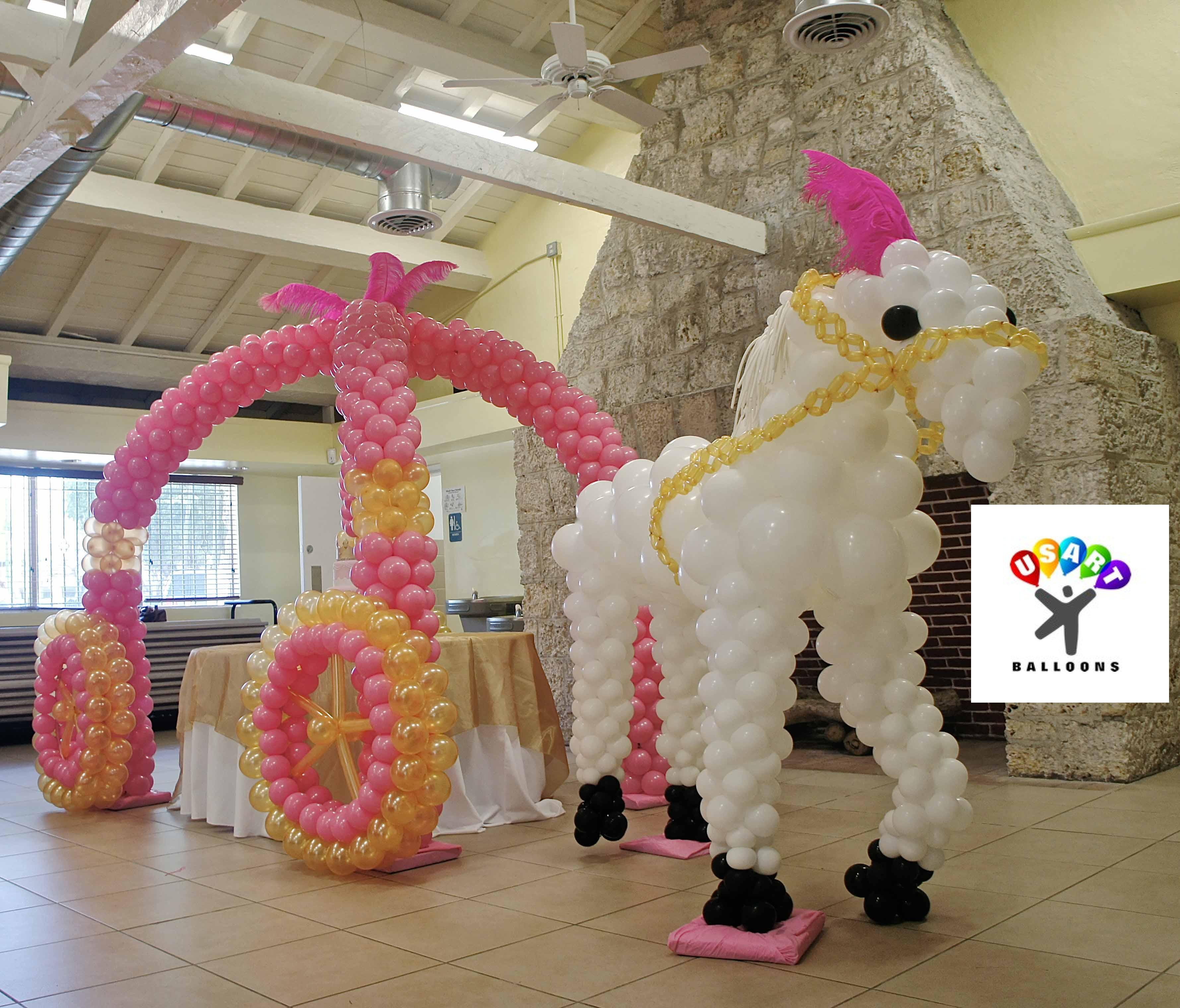 Princess party decor for Balloon decoration ideas for birthdays